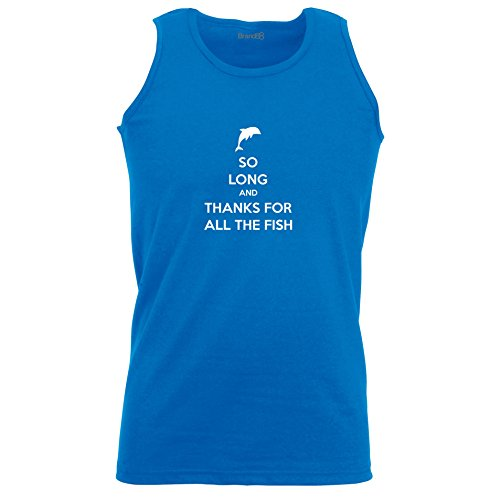 Brand88 - So Long And Thanks For All The Fish, Unisex Athletic Weste Koenigsblau