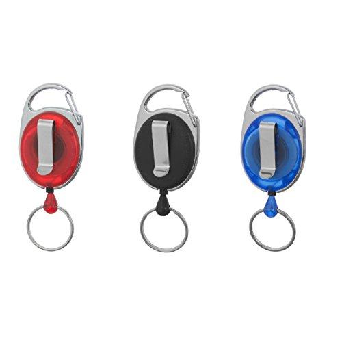1 x Karteo® Ausweisjojo schwarz | mit Karabinerhaken Clip und Schlüsselring | Ausweishüllen Kartenhüllen Ausweishalter Kartenhalter