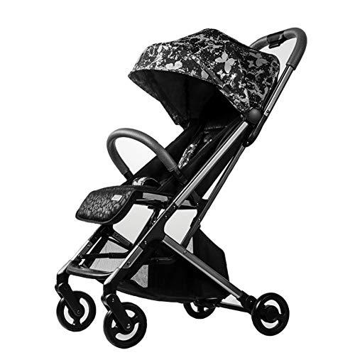 GKBMSP Kinderwagen Leichter Kinderwagen Kompakter Buggy Faltbares Baby mit verstellbarem Sitz in Mehreren Positionen, erweiterter Überdachung, Easy One Hand Fold Large Ablagekorb