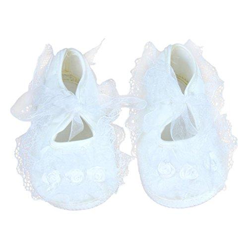 Schuhe Kleid Weiß Kleinkind-mädchen (für 0-12 Monate Baby, Ularmo Rose Blumen Neugeborenes Babyschuhe (10/0-3 Monate, Weiß ))