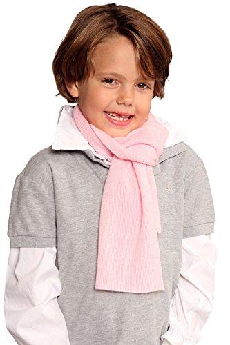 Kinderschal 100%  cachemire - 20 x 130 cm - 11 coloris unisexe Noir - Noir