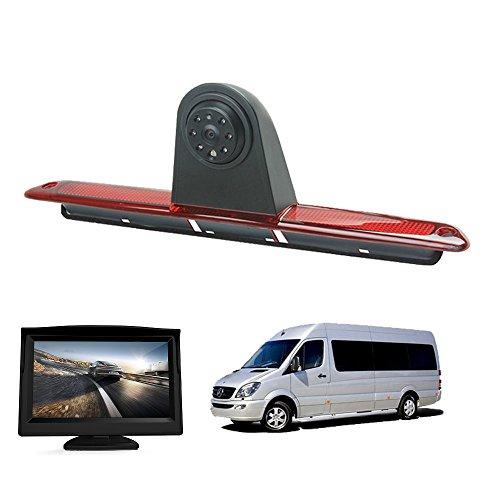 "Rückfahrkamera Transporter Kamera an 3. Bremsleuchte Dachkante Einparkhilfe für Transporter MB Mercedes Sprinter W906 VW Crafter Truck Vans +4.3\"" Zoll DVD Monitor TFT Bildschirm LKW KFZ LCD Display"