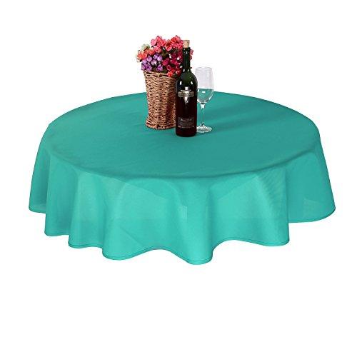 Deconovo Nappe Imperméable pour Salle à Manger interieur ou exterieur 160 cm Turquoise