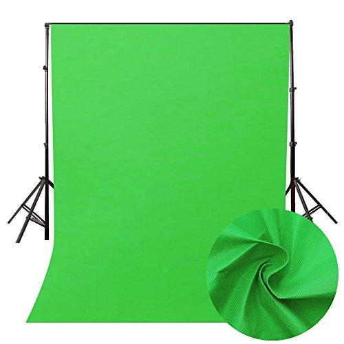 Ouneed - Green Screen Faltbare Hintergrund 160 * 200cm, Ausfahrbares Greenscreen mit Chromakey Effekt Film Shooting Background Backdrops Photography für Youtbube Video Fotostudio (Grün) Chroma Green Screen