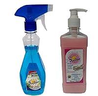 Sunshine Glass Cleaner 500ml and Hand wash 500ml,Combo of 2