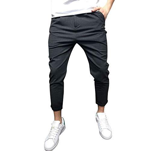 Somesun-pantaloni sportivi da uomo casual elastico larghi tasche pant tinta unita uomo, pantaloni selvatici a gamba dritta skinny stretti caviglia elasticizzati lavoro sportivo