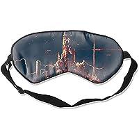 Herren Damen und Kinder Essential Silky Ultimate Sleeping Lightweight Soft Mask Adjustable Abstrakte Sci-Fi City... preisvergleich bei billige-tabletten.eu