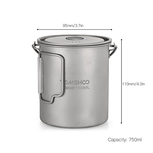 Zoom IMG-3 tomshoo ultralight 750ml titanium pot