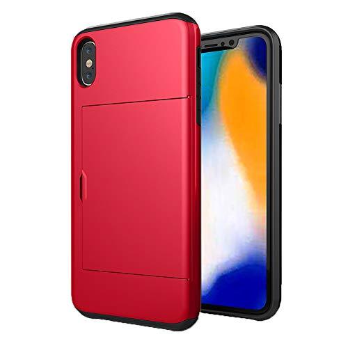 HONTECH Schutzhülle für iPhone XS, 5,8 Zoll (12,7 cm) 2018, schlankes Design, Hybrid-Doppelschicht, Kartenschlitz, stoßfest, iPhone XS 5.8