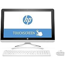 "HP All in One 22-b016ns - Ordenador Sobremesa Táctil Todo en Uno de 21.5"" FullHD (Intel Pentium J3710, 4 GB RAM, 1 TB HDD, Intel HD Graphics 405, Windows 10); Blanco Nieve - Teclado QWERTY Español"