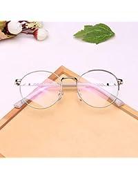 a2ba2ffd87 Anglayif Anteojos sin Receta Moda Gafas Redondas Gafas con Estilo Unisex  Gafas con Lentes Transparentes (Color…