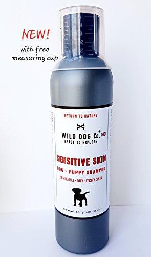 Wild Dog Co Sensitive Shampoo für juckende Hunde und Welpen, beruhigend für Reizung, trockene Haut, hochkonzentrierte Rezeptur, hergestellt in Großbritannien -