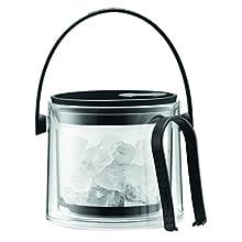 Bodum 11584-01B Cool Ice Bucket with Tongs, 1.5 L - Black