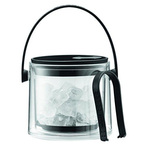 Bodum Eiskübel mit Zange 1,5 L COOL Schwarz 11584-01B