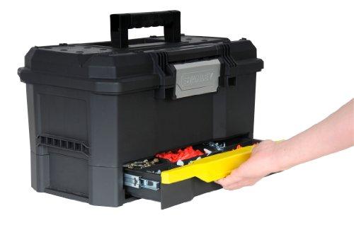 Stanley Werkzeugkiste leer aus Kunststoff 1-70-316 / Werkzeugkoffer mit integrierter Schublade für Kleinteile / Maße: 48.1 x 27.9 x 28.7 cm - 3