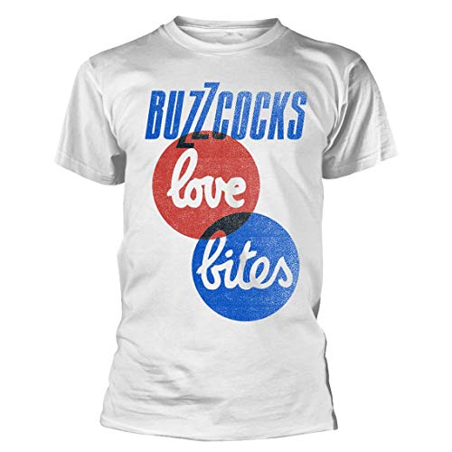 Buzzcocks Official T Shirt Punk Rock 'Love Bites', Unisex, S to XXL