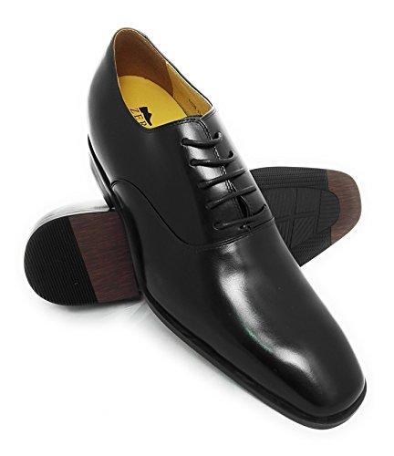 Zerimar Chaussures DIntérieur avec 7 CM de Augmente Intérieur Style Élégant Couleur Noir Noir