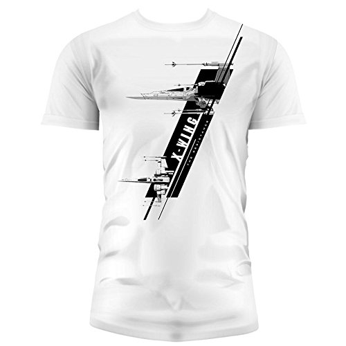 SD toys - T-Shirt - Star Wars Episode 7- Homme X-Wing Blanc Taille M - 8436546898764