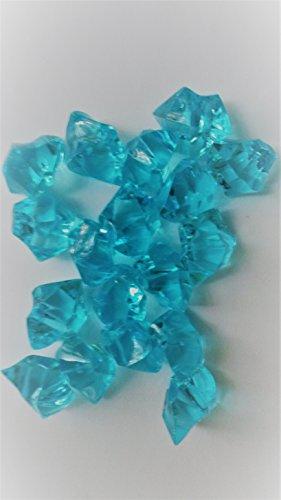 (50 türkis Streudeko Deko Dekoration Tischschmuck Dekosteine Diamanten für Hochzeit ca 25x20 mm Tischdeko Tautropfen vom Sachsen Versand)
