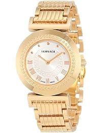 Versace P5Q80D001S080–Reloj de pulsera de mujer, correa de acero inoxidable color dorado