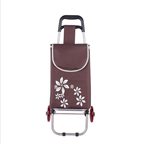 Tragbarer Einkaufswagen-tragbarer Gepäck-Anhänger-Faltende Laufkatze, C