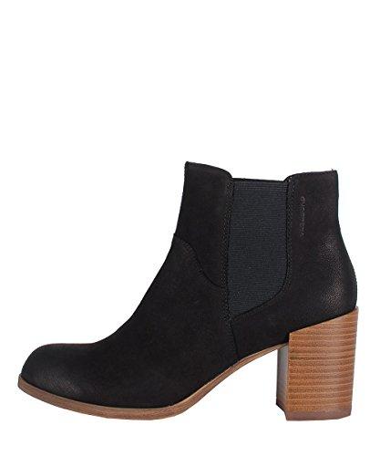 Vagabond Anna Black Boots - Stivaletti Da Donna Neri Con Tacco In Legno