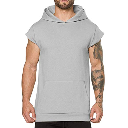 Xmiral Camicia T-Shirt Uomo Manica Corta Corpo Cintura Addominale Fitness Corsetto Brucia Grassi Rafforzare la Traspirazione Dimagrante L Grigio