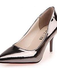 ZQ Zapatos de mujer-Tac¨®n Robusto-Confort / Puntiagudos-Tacones-Oficina y Trabajo / Casual-PU-Negro / Azul / Rosa / Blanco , blue-us6.5-7 / eu37 / uk4.5-5 / cn37 , blue-us6.5-7 / eu37 / uk4.5-5 / cn3