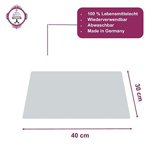 Tortenunterlage - weiß - Acryl - wiederverwendbar - rund - stabil - Kuchenplatte - Cake Board - Kuchenplatte (30x40 cm - eckig)