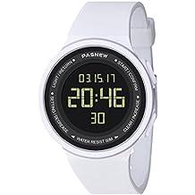 58ddd765b110 Pasnew-446 Reloj niña Mujer o niños Reloj Deportivo Digital Reloj Alarma  Luz Impermeable Cronómetro