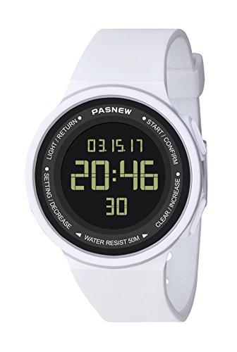Pasnew-446 Reloj niña Mujer o niños Reloj Deportivo Digital Reloj Alarma Luz Impermeable Cronómetro multifunción de Moda.