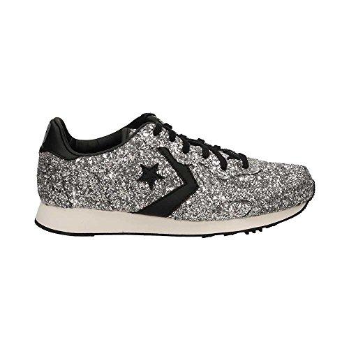 Converse Auckland Racer Ox Glitter - 555086c silver/black/snow white - (37.5, silver/black/snow white)