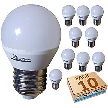 (LA) 10x Bombilla LED G45 7w, blanco Neutro (4500k), 650