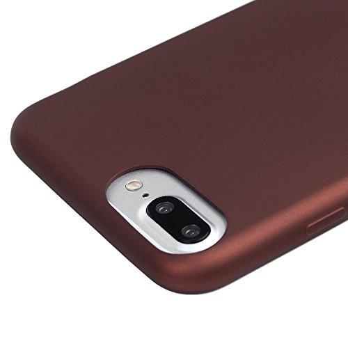 """iPhone 7 Plus Hülle Case YOKIRIN Oil Handhabung TPU Handytasche Handyhülle Etui Softcover Tasche Schutzhülle Protective Schale für iPhone 7 Plus (5.5"""") (Rose Gold) Kastanienbraun"""