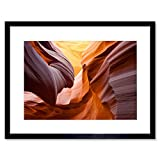 Wee Blue Coo Photo Antelope Canyon Geological Formation Framed Wall Art Print Fotografia Parete