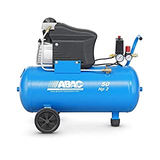 Abac Montecarlo L20 Lubricated Piston Compressor 50 L 10 Bar 2HP 13.2 m3/h