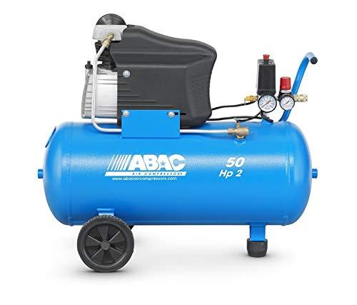 Abac - Compresseur à piston lubrifié 50L 10bar 2CV 13,2 m3/h - MONTECARLO L20