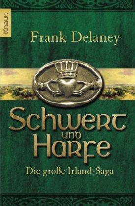 Buchseite und Rezensionen zu 'Schwert und Harfe' von Frank Delaney