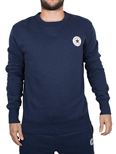 Converse Uomo Logo Felpa core, Blu, Large