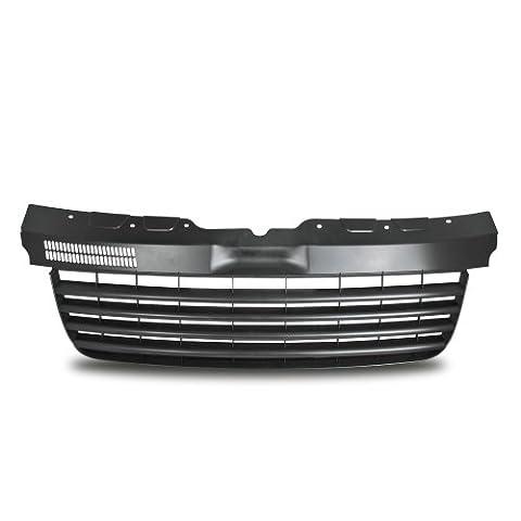 Kühlergrill Sportgrill Gitter Front Grill ohne Emblem Schwarz (Fahrzeugspezifisch)