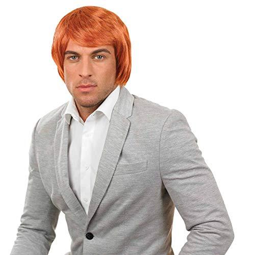Junge Band Perücke (Fun Shack Herren Costume Kostüm, Mens Ginger Boy Band Wig, Einheitsgröße)