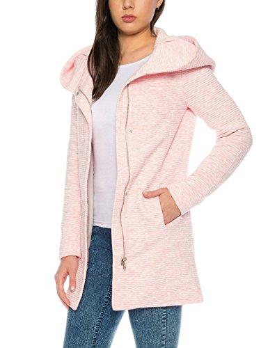 ONLY Damen-Woll-Mantel onlSedona Link Coat 15144772 Kurz-Mantel Übergang-Jacke, Größe:XS, Farbe:Rosa - 2