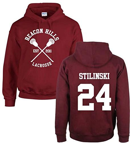 iBaste Herren Damen Hoodies Sweatshirt Beacon Hills Lacrosse Kapuzenpulli Teen Wolf McCall Stilinski Lahey Unisex Sweatshirt - Damen Beacon