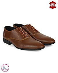 Ziraffe CARACAS Tan Leather Formal Shoes (7 UK)