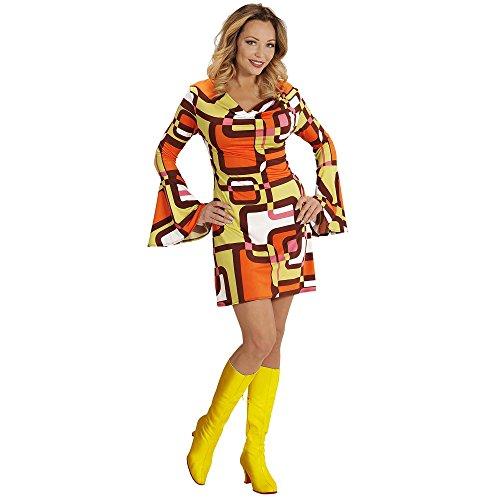 Disco Kostüm Motto 70's - Widmann 08882 Erwachsenenkostüm 70's Retrokleid, M