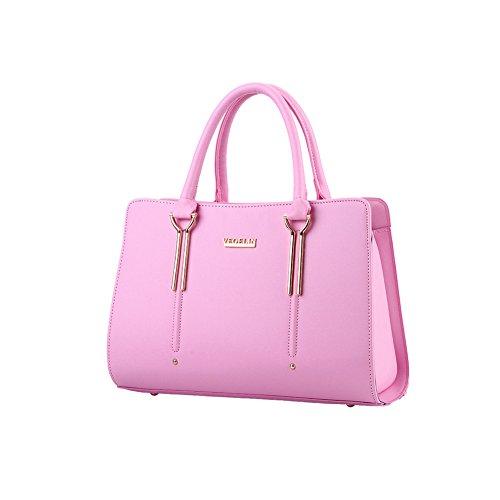 Xiaoxuan, Borsa a spalla donna Blu profondo rosa
