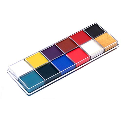 12 Colors Tattoos Color Pigment Face Body Paint Oil Painting Art Make Up With Brushes Halloween Party Fancy Dress Makeup Tools