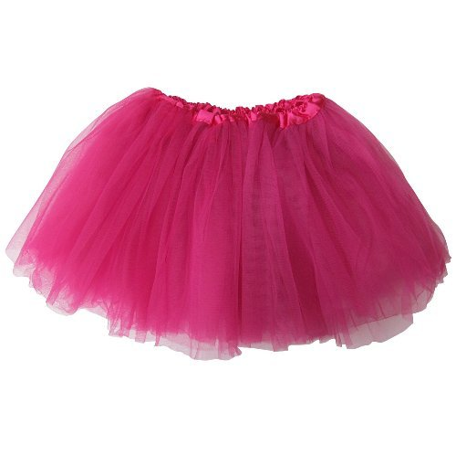 Ballerina Basic Girls Dance Dress-Up Princess Fairy Costume Dance Recital Tutu (Hot Pink) by So Sydney (Girl Up Hot Dress)