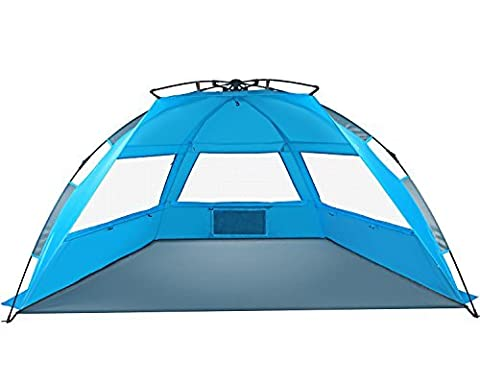 Tagvo Pop Up Beach Tent Sun Shelter Easy Set Up Down, Portable Instant Beach Baby Canopy Léger 4.7 Pounds, UPF 50 Plus Protection solaire 3 Mesh Screen Windows Bonne ventilation Sports Sun