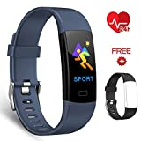 EFO SHM Fitness Bracelet with Heart Rate Monitor, Waterproof IP67 Fitness Tracker Colour Display Activity Tracker Watch Call SMS Whatsapp Note with iPhone Android Phone